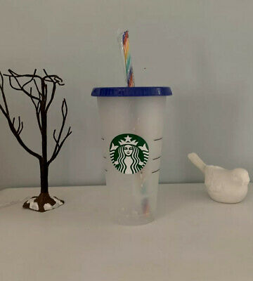 Starbucks Confetti Color Changing Cup Pride Summer 2020 Reusable Rainbow Straw