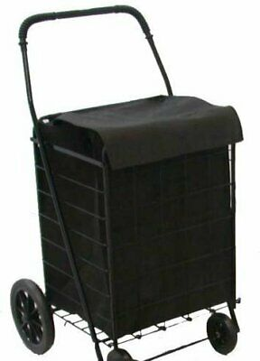 LavoHome Jumbo Folding Premium Shopping Grocery laundry Cart-With Free Bonus...