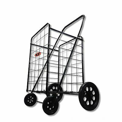 Extra Large Heavy Duty Folding Shopping Grocery Storage Cart Jumbo Size