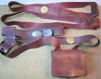 Vintage Made By Lund Us Civil War Reproduction Reenactment Ammo Pouch Gear
