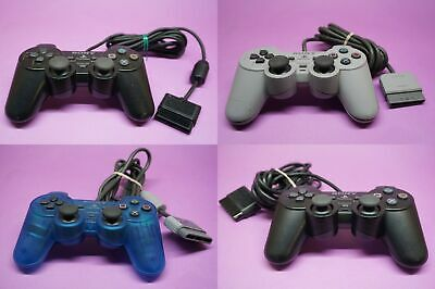Genuine Sony PS2 Playstation 2 And PS1 Dualshock Game Controllers-Check Descript