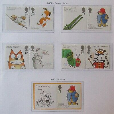 Royal Mail Stamps, Animal Tales, inc. Rare Self Adhesive, 2006 Unmounted Mint.