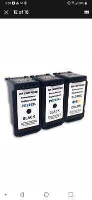 For Canon PG-245XL CL-246XL Ink Cartridges PIXMA MG2520 MG2920 MX490 High Yield