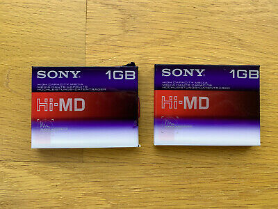 2x Minidisc 1go Sony Hi-MD first generation emballés