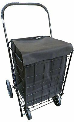 UPT Extra Large Heavy Duty Folding Shopping Laundry Storage Cart with...