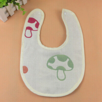 Newborn Baby Cute Cotton bib layer yarn cloth protect clothes