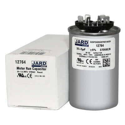 USA 5 uf MFD Oval Run Capacitor Replaces 27L570 370 VAC or 27L1024 440 VAC
