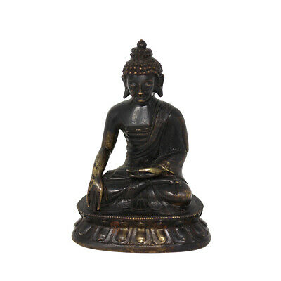 Fine Antique Bronze Oriental Chinese Buddha Stunning Quality Qing