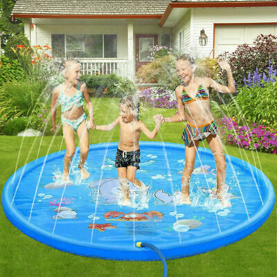 Large Inflatable Sprinkle Splash Play Mat Water Swimming Pool Kids Gift 170cm