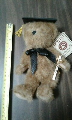 Boyds Bears Mr. Graduate Plush - All Tags & Diploma & Cap - Excellent Condition