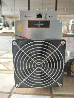 UNTESTED - AS IS - Antminer D3 19.3 GH/s X11 ASIC Dash Miner