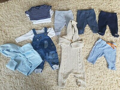 Baby boys clothes bundle 0-3 months 11 items Next, George, Marks & Spencer