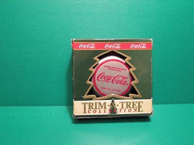 """1990 Coca-Cola """"Trim A Tree Collection"""" Bottle Cap Tree Ornament With Box"""