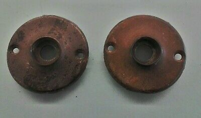 SET of ANTIQUE CAST DOOR KNOB ESCUTCHEON PLATES