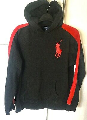 Polo Ralph Lauren Boys Sweatshirt Hoodie  Black  Size Xl Age 18-20   44 Chest