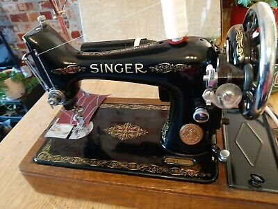 Singer Sewing machine 99k Superb Serviced electricversion Working Video eb412223