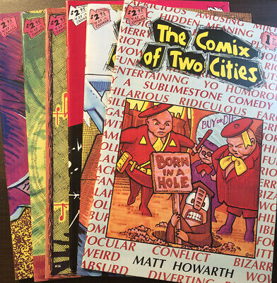 Matt Howarth, The Comix Of Two Cities Lot Of All 6 Magazines