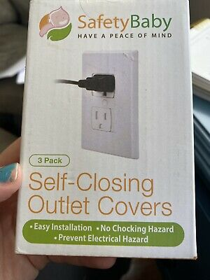 Safety Baby Self Closing Electrical Outlet Covers 3 Pack New Safe Easy
