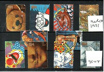 GB - Greetings stamps - 1991  (GS04) -set of ten stamps - not se-tenant - USED