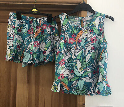 Girls Top & Short Set From Matalan Age 10