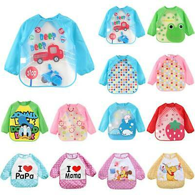 Printed Feeding Bib Baby Infant Child Waterproof Coverall Art Craft Play Apron