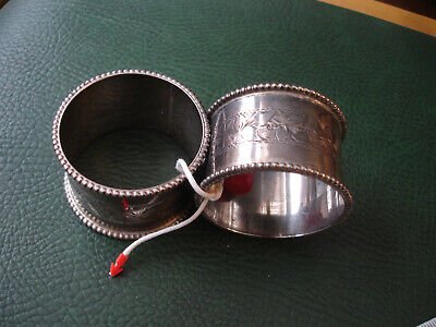 Pair of antique Sterling Silver Napkin ring 50.49gm Circa 1912