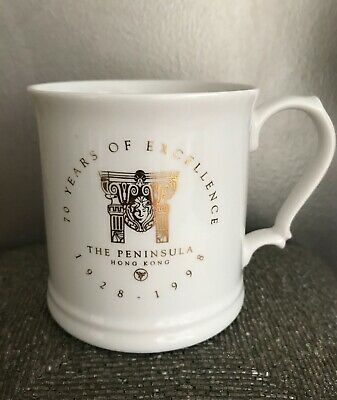 Vintage~The Peninsula Hotel Hong Kong 70th ANNIVERSARY Collectors Mug/Cup RARE!