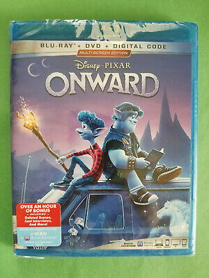 NEW - ONWARD (Blu-ray + DVD + Digital 2020) Chris Pratt / Tom Holland - Disney