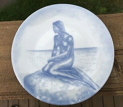 The Little Mermaid 6 Inch Collector Plate Copenhagen Denmark
