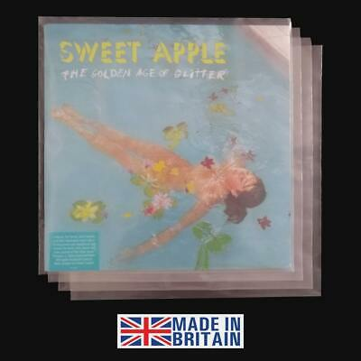 """200 LP Album 12"""" 450g Plastic Polythene Record Sleeves - Outer Vinyl Covers"""