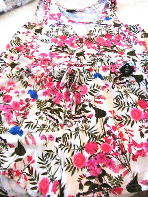 Tahari Womens Sleep 2 Pc Short Set Sleeveless Size Medium8-10 Soft Floral Print