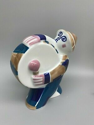 Vintage Sargadelos Abstract Modernist Spanish Pottery Drummer Figurine