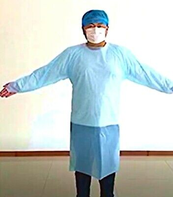 15 Medical Dental Disposal  isolation Gowns   $4.00 a gown! Unisex one size