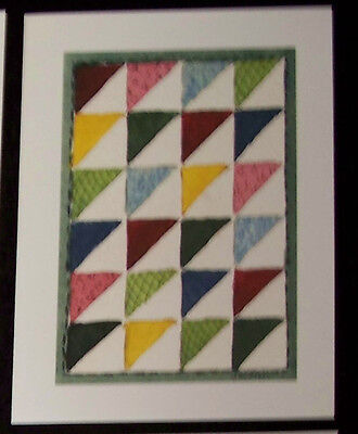 Blank NOTECARD watercolor print Quilt Sewing  JSConn