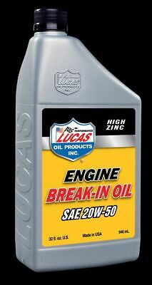 10635 Lucas Oil Products Sae 20W 50 Break In Oil