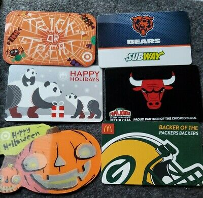 SET OF 6 Collectible Gift Cards 🚫 NO VALUE 🚫