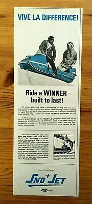 Free Shipping Canada Canadian Ad 1969 Sno Jet Skidoo Snowmobile Glastron