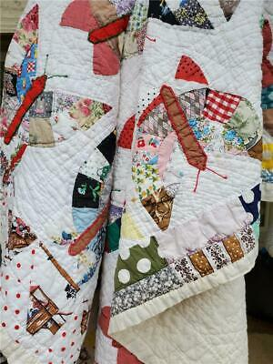 (41) AMAZING Vintage Quilt BUTTERFLY Handmade GORGEOUS!!