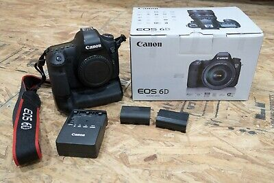 USED Canon EOS 6D 20.2MP DSLR Camera-(Body Only)-Great Condition w/ Grip/Extras