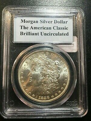 1888 O Morgan Dollar Pcgs Brilliant Uncirculated - Luster - Certified Slab - $1