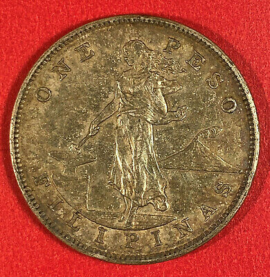 1903 One 1 Peso Us Philippines Coin Free Ship