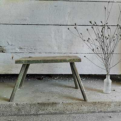 Vintage Primitive Hand-Made Milking Stool or Rustic Bedside Occasional Table