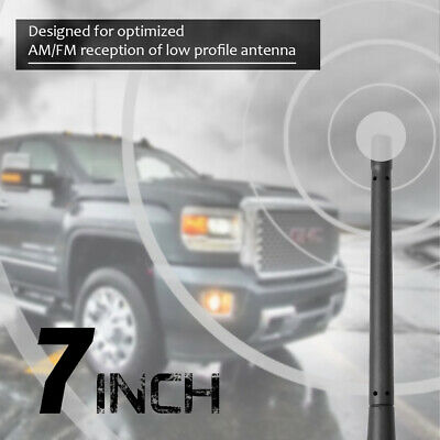 Stubby Antenna Compatible fit for Chevrolet Silverado 1500 GMC Sierra Truck 2007-2017 2018 2019 4 Inches Short Antenna Mast Replacement Accessories