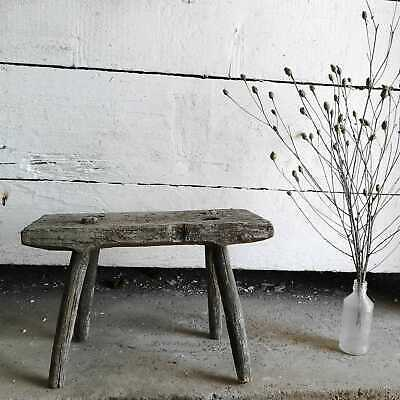 Vintage Rustic Hand-Made Milking Stool or Bedside Primitive Occasional Table