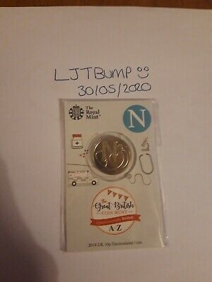 A - Z 10p carded N 2018 NHS coin