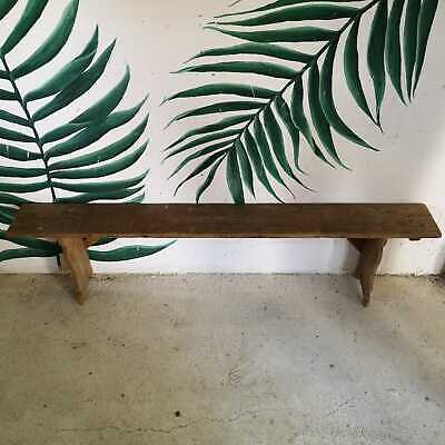 1950's Vintage Rustic Antique Farmhouse Wooden Garden or Kitchen Bench Seating