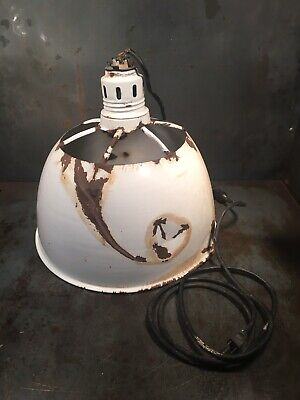 Antique Porcelain Light Shop Light Industrial Light Fixture