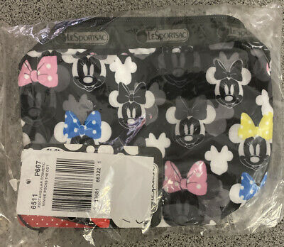 Disney Minnie Mouse LeSportsac Cosmetic Bag Small Rock the Dots Limited Edition