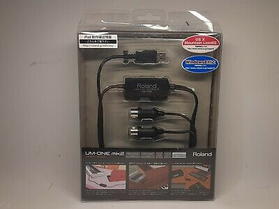 Roland UM-ONE mk2 USB-MIDI Cable USB MIDI Interface UM-1 Edirol Free Shipping