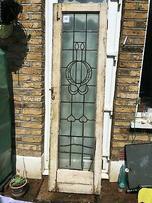 ANTIQUE STAINED GLASS Pair of DOORS